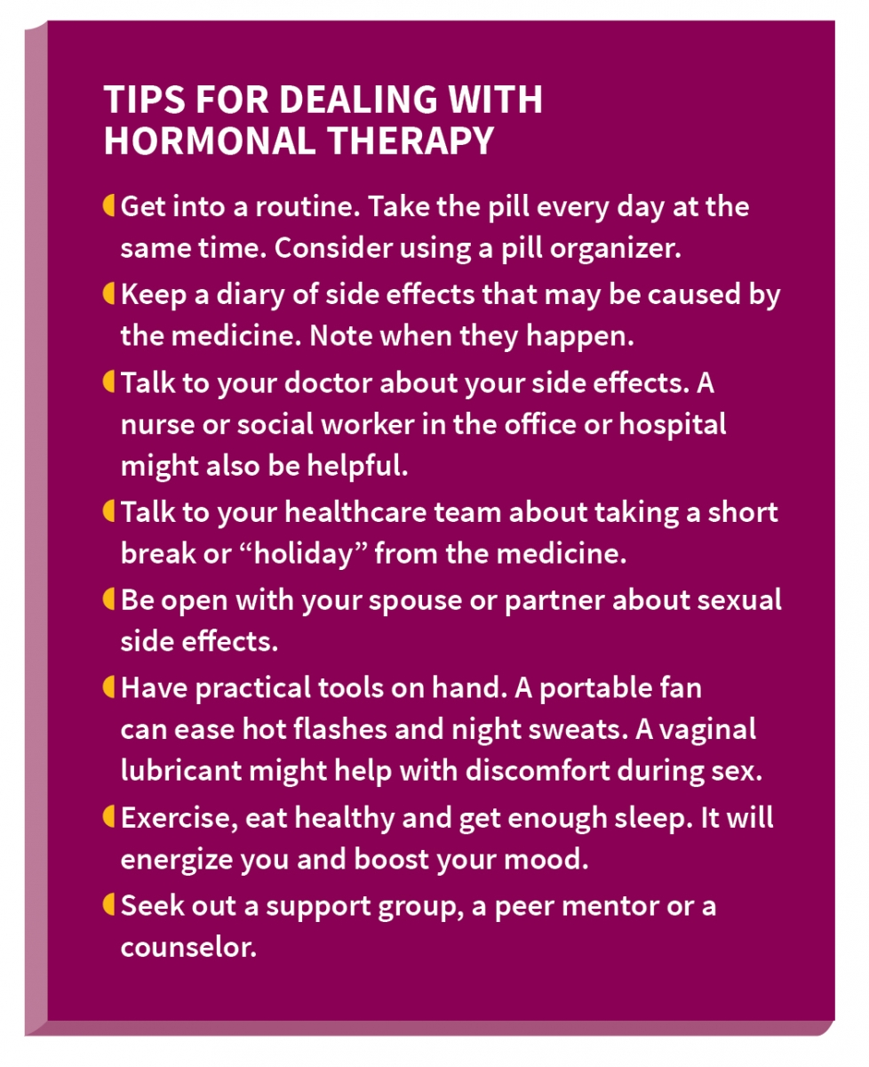 Tips for Dealing With Hormonal Therapy